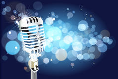 Microphone background. Abstract vector microphone background illustration Royalty Free Stock Photo