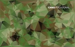 Abstract Vector Military Camouflage Background Made of Geometric Triangles Shapes. Stock Image