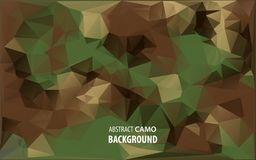 Abstract Vector Military Camouflage Background Made of Geometric Triangles Shapes. Abstract Vector Military Camouflage Background Made of Geometric Triangles Royalty Free Stock Images
