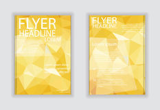 Abstract vector modern flyer brochure design templates with busi Royalty Free Stock Images