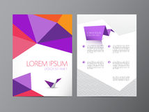Abstract vector modern flyer brochure design Royalty Free Stock Photos