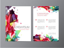 Abstract vector modern flyer brochure design Stock Images