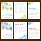 Abstract vector modern flyer broschure. Abstract vector modern flyer brochure design templates collection with colorful geometric honeycomb backgrounds vector illustration