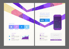 Abstract vector modern flyer Royalty Free Stock Photography