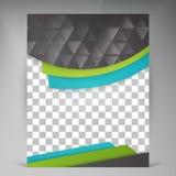 Abstract vector modern flyers brochure. Stock Photos