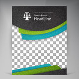 Abstract vector modern flyers brochure. Royalty Free Stock Images
