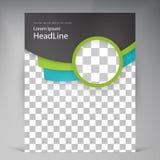 Abstract vector modern flyers brochure. Stock Image