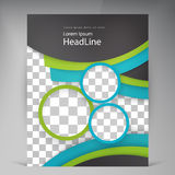Abstract vector modern flyers brochure. Stock Photos