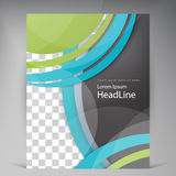 Abstract vector modern flyers brochure. Royalty Free Stock Photos