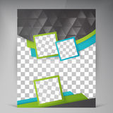 Abstract vector modern flyers brochure. Royalty Free Stock Photography
