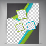 Abstract vector modern flyers brochure. Stock Photography