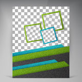 Abstract vector modern flyers brochure. Stock Image