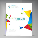 Abstract vector modern flyers brochure. Royalty Free Stock Photo