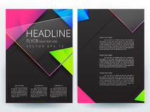 Abstract vector modern flyers brochure design templates