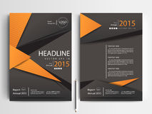 Abstract vector modern flyers brochure design templates Royalty Free Stock Image