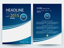 Abstract vector modern flyers brochure design templates Royalty Free Stock Photos