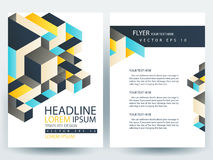 Abstract vector modern flyers brochure design templates Stock Image