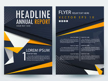 Abstract vector modern flyers brochure design templates Royalty Free Stock Images