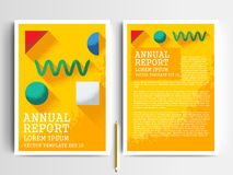 Abstract vector modern flyers brochure design templates Royalty Free Stock Photo