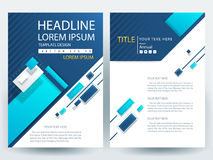 Abstract vector modern flyers brochure design templates Stock Images