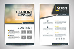 Abstract vector modern flyers brochure  Royalty Free Stock Photography