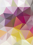 Abstract vector mosaic background of triangles polygonal wallpap Royalty Free Stock Image