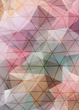 Abstract vector mosaic background of triangles polygonal wallpap Stock Photo
