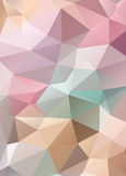 Abstract vector mosaic background of triangles polygonal wallpap Royalty Free Stock Photo