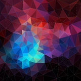 Abstract vector mosaic. triangle geometric background Stock Photo