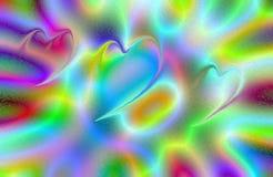 Abstract vector multicolored behang als achtergrond Stock Afbeelding