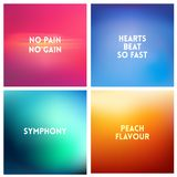 Abstract vector multicolored blurred background set. 4 colors set Stock Image
