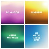 Abstract vector multicolored blurred background set. 4 colors set Royalty Free Stock Image