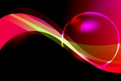 Abstract vector multicolored shaded background with 3 d bubbles, vector illustration Royalty Free Stock Image