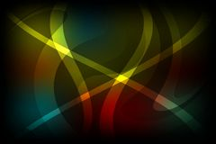 Abstract vector multicolored shaded wavy background with lighting effects, vector illustration Stock Photography