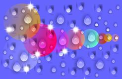 Abstract vector multicolored with water drops shaded wavy background with bubbles ,wallpaper, vector illustration,. Abstract vector multicolored shaded wavy vector illustration