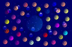 Abstract vector multicolored with water drops shaded wavy background with bubbles ,wallpaper, vector illustration,. Abstract vector multicolored shaded wavy stock illustration