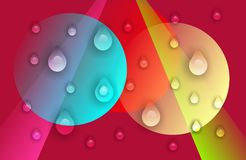 Abstract vector multicolored with water drops shaded wavy background with bubbles , wallpaper, vector illustration,. Abstract vector multicolored shaded wavy vector illustration