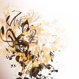 Abstract vector music background Royalty Free Stock Photos