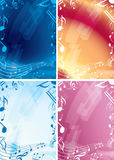 Abstract vector music backgrounds - frames Royalty Free Stock Photo