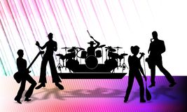 Free Abstract Vector Musical Group Presenting A Program On Stage, Vector Illustration. Stock Images - 123274384