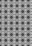 Abstract Vector Naadloos geometrisch Zwart-wit patroon Royalty-vrije Stock Afbeelding
