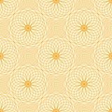 Abstract vector naadloos moirépatroon met lijnen Spirograph geometrische het herhalen textuur Vector Illustratie