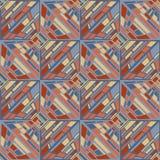 Abstract vector naadloos op kunstpatroon Grafisch kleurenpop-art, stock illustratie