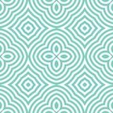Abstract vector naadloos op kunstpatroon Het zwart-wit grafische ornament van de plonskunst Optische illusie Stock Foto's