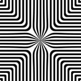 Abstract vector naadloos op kunstpatroon Zwart-wit pop-art, grafisch ornament Optische illusie vector illustratie