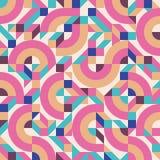Abstract vector naadloos patroon als achtergrond in manier retro stijl van jaren '80 van de het ontwerpgroep van Memphis de Itali Royalty-vrije Stock Foto