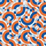 Abstract vector naadloos patroon als achtergrond in manier retro stijl van jaren '80 van de het ontwerpgroep van Memphis de Itali Stock Foto