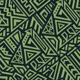Abstract Vector Naadloos Patroon in Etnische Stijl Stock Afbeeldingen