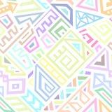 Abstract Vector Naadloos Patroon in Etnische Stijl Royalty-vrije Stock Foto