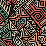 Abstract Vector Naadloos Patroon in Etnische Stijl Royalty-vrije Stock Foto's